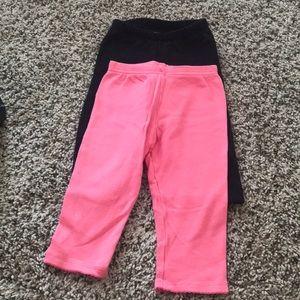 2 pairs of leggings for baby girls